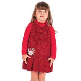 conjunto-vestido-oncinha-vermelha-hello-kitty-menina