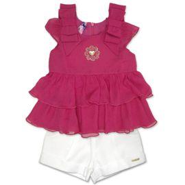 bata-pink-e-short-branco-meninas