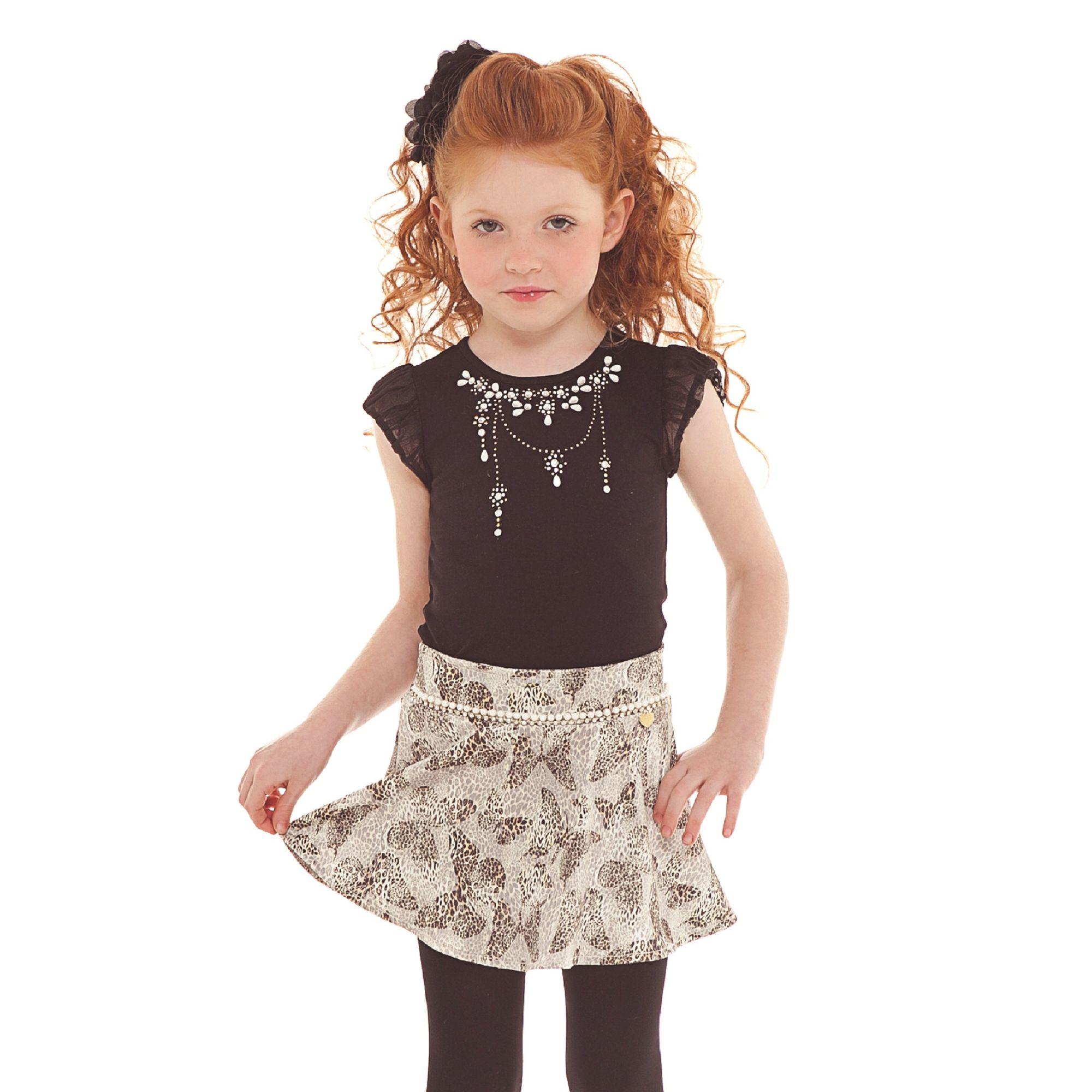 conjunto-menina-camiseta-cristais-e-saia-borboletas-infantil