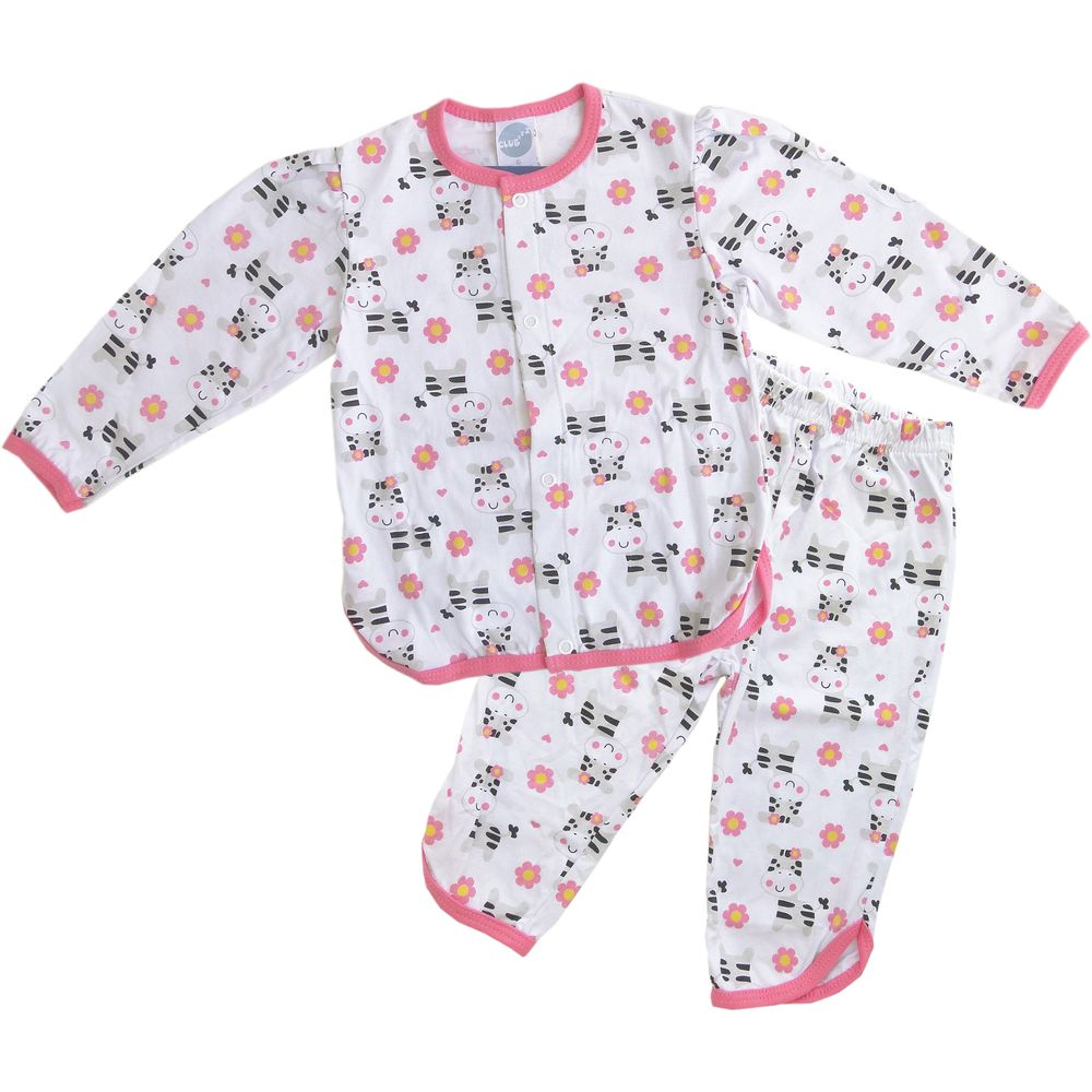 pijama beb manga longa zebrinha club zzz piu piu   roupas infantis