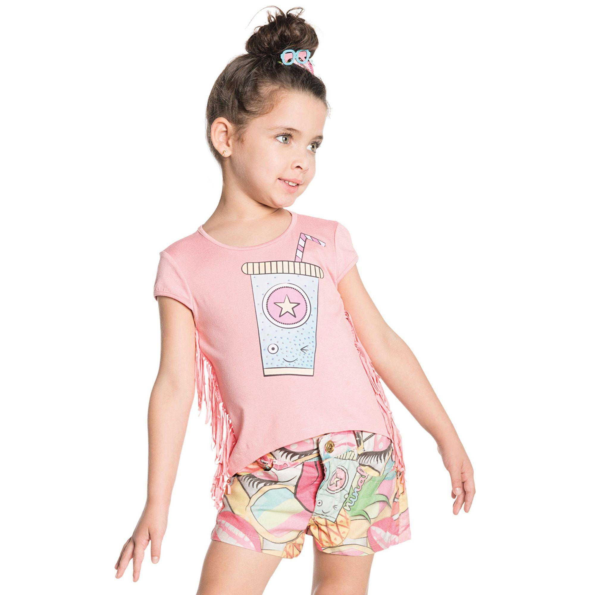 conjunto-menina-camiseta-franjas-e-short-colorido-ninali