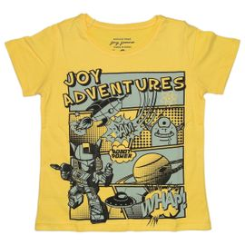 camiseta-menino-amarela-quadrinhos-espacial