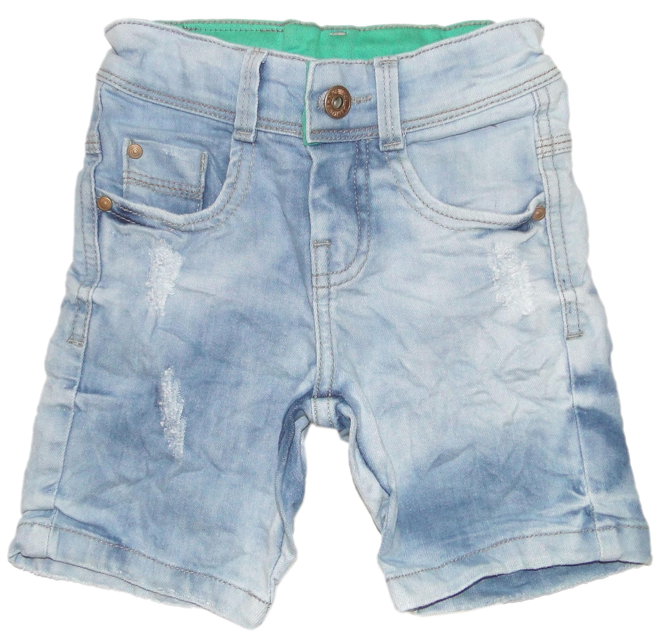 Bermuda Menino Jeans Claro Estonado Amassado - Joy by Morena Rosa 2