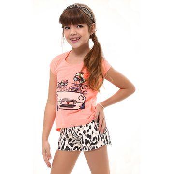 camiseta-neon-coral-e-short-animal-print-menina