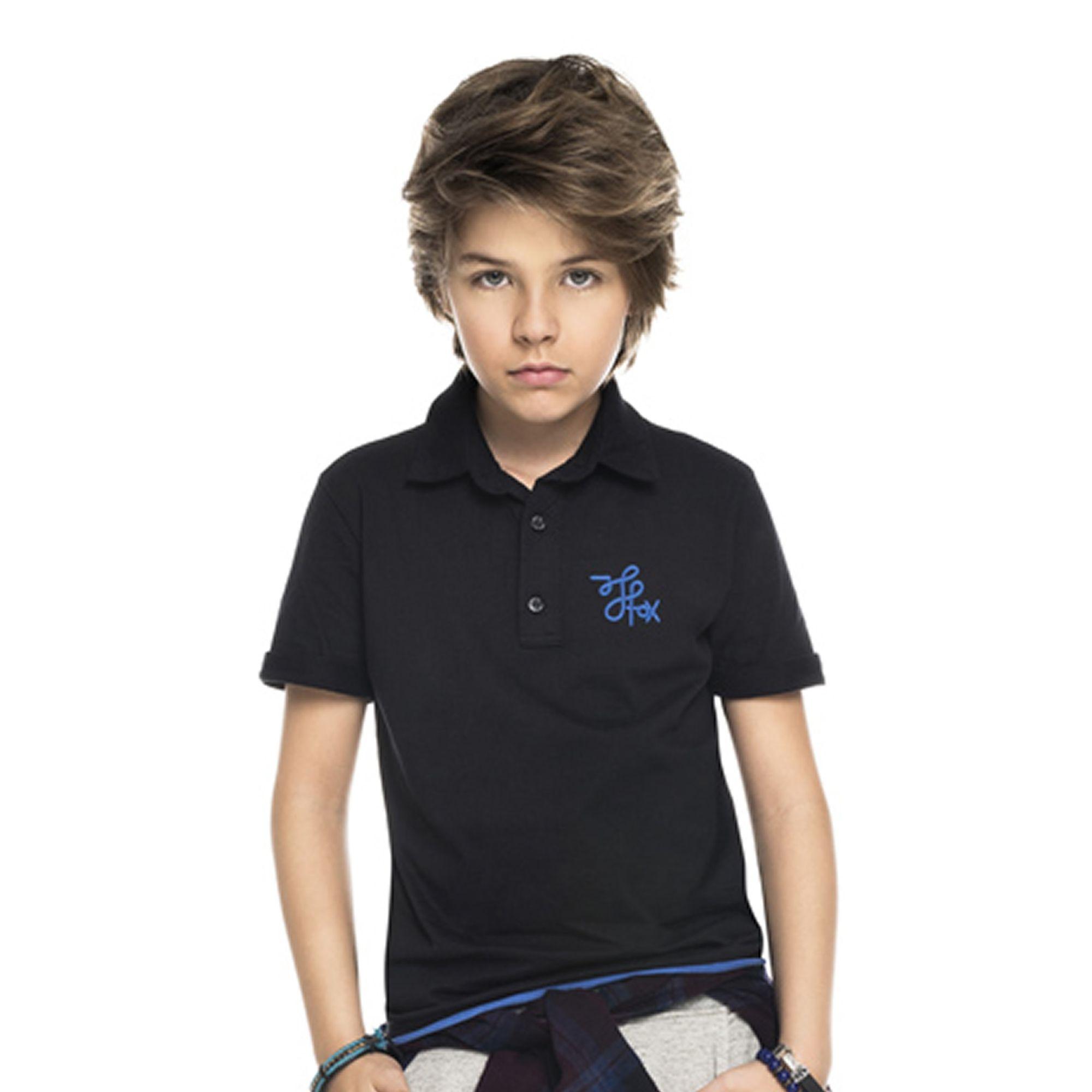 camiseta-infantil-polo-malha-manga-curta-preta-johnny-fox