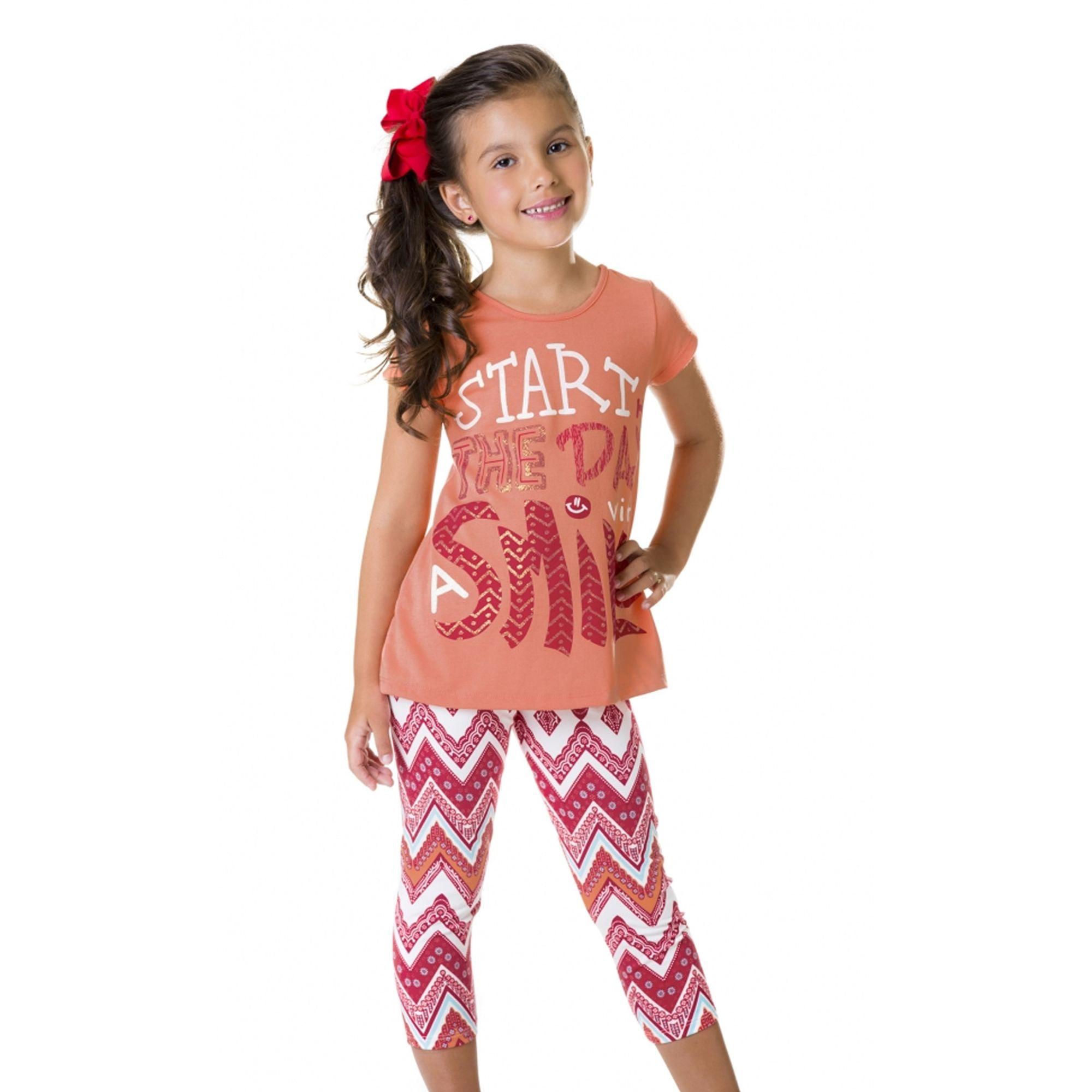 conjunto-menina-camiseta-coral-e-legging-estampada-verao