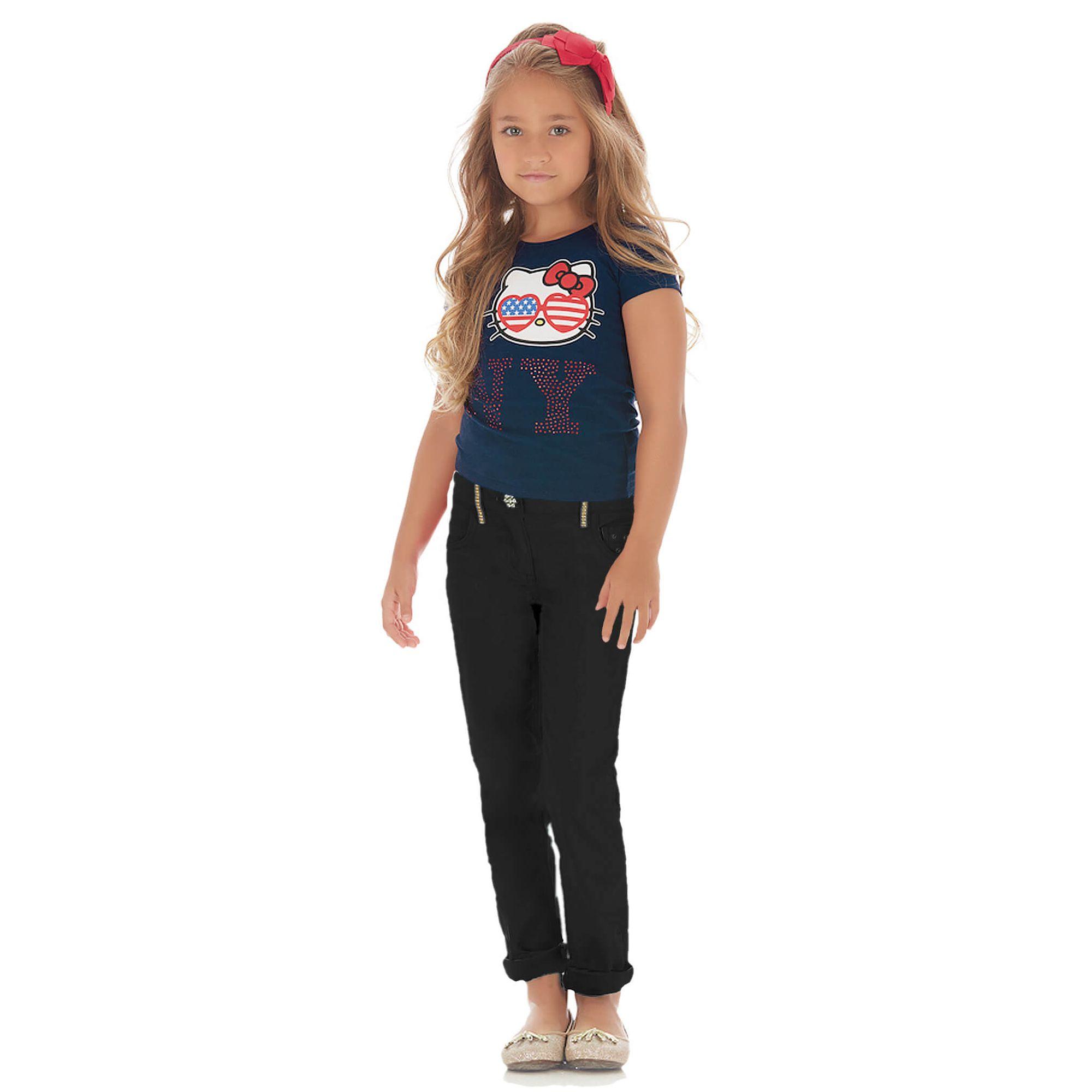 camiseta-babylook-menina-cotton-Hello-Kitty-NY-e-calca-skinny-preta