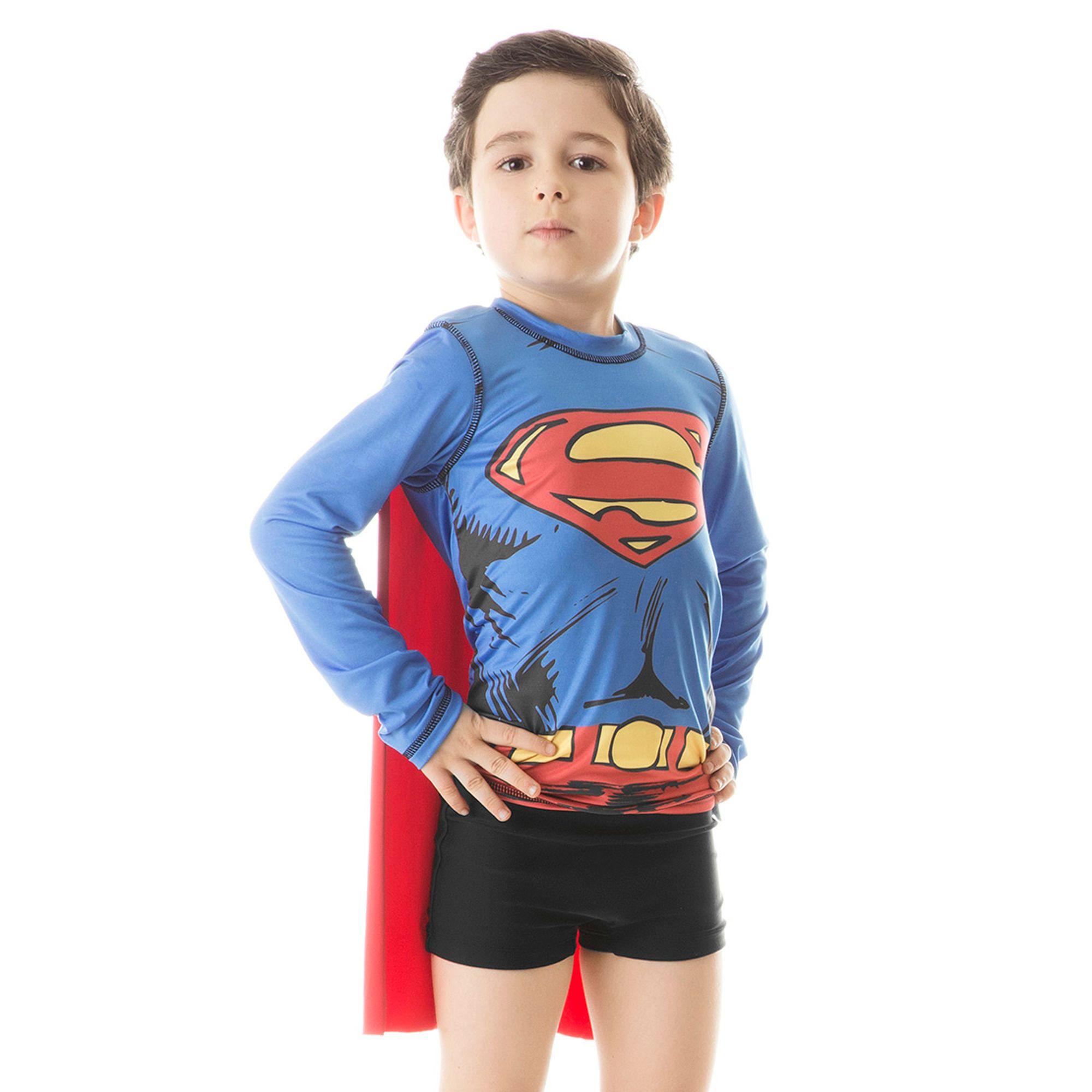 camiseta-infantil-superman-protecao-solar-acqua-ML-uvline