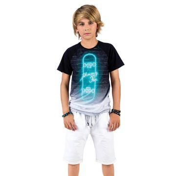 conjunto-menino-camiseta-preta-skate-neon-e-bermuda-branca-johnny-fox