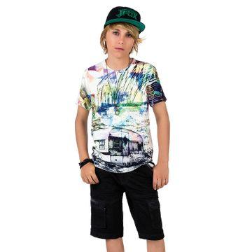 conjunto-menino-camiseta-grafica-e-bermuda-sarja-preta-johnny-fox