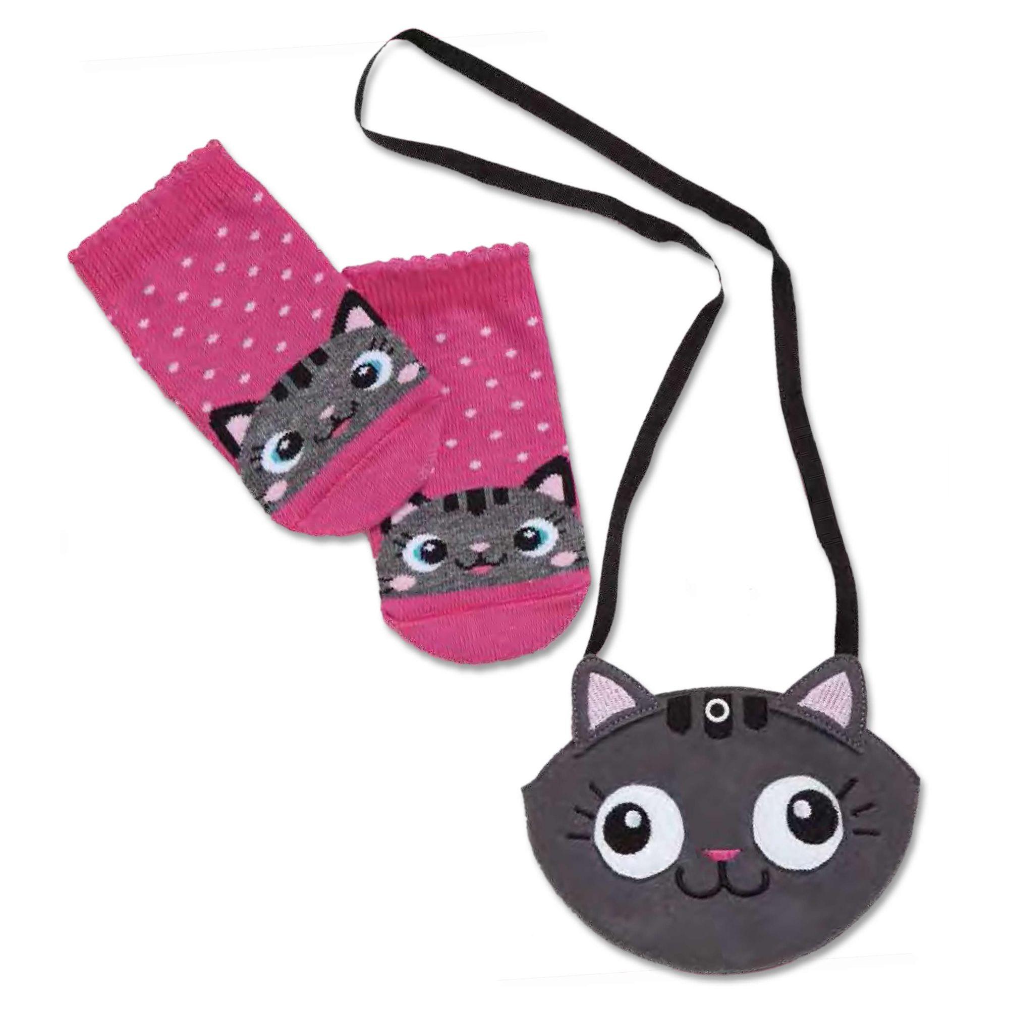 meia-infantil-soquete-pink-e-bolsa-gatinha-puket