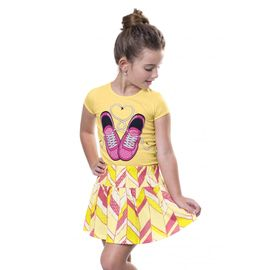 conjunto-menina-blusa-tenis-rosa-e-saia-amarela-bee-loop