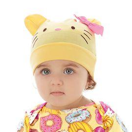 touca-bebe-hello-kitty-amarela