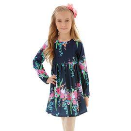 vestido-infantil-azul-escuro-hello-kitty-flores-ml