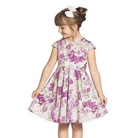 vestido-infantil-festa-flores-pink-manga-perolas