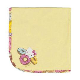 manta-bebes-suedine-amarela-hello-kitty-rosquinhas