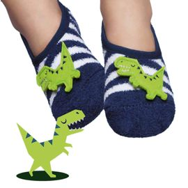 meia-infantil-soft-sapatinho-dinossauro-listrada-puket