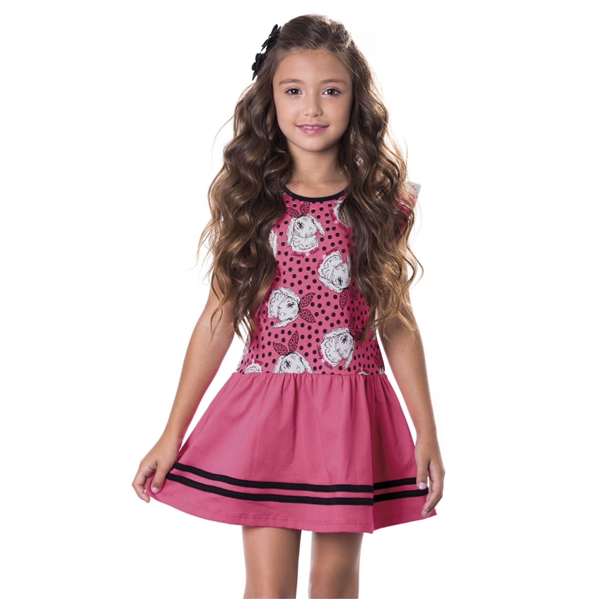 ced2084ad7d158 Vestido Infantil Estampado Melancias Ninali - Roupas para Meninas na ...