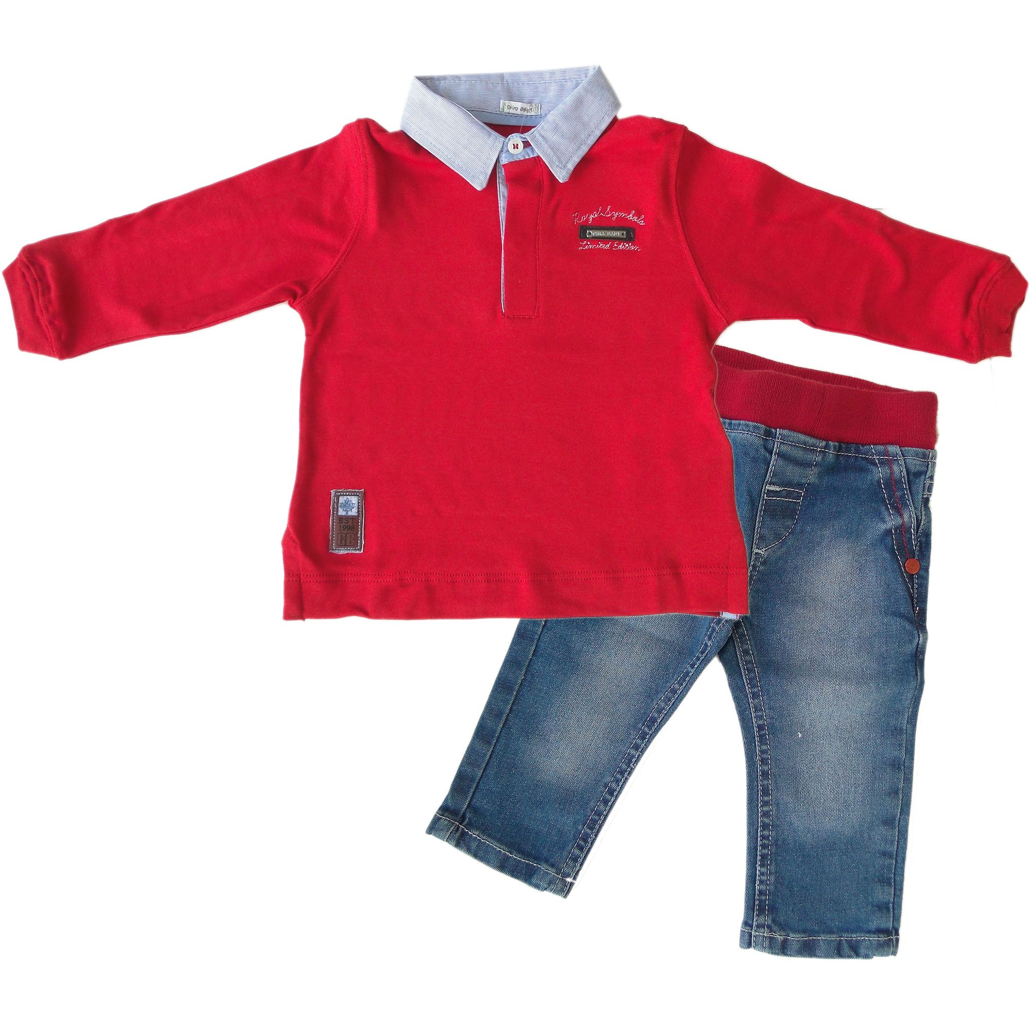 0936207417 Camiseta Polo e Calça Jeans para Bebê - Roupa para Bebê é na EcaMeleca Kids  - EcaMeleca