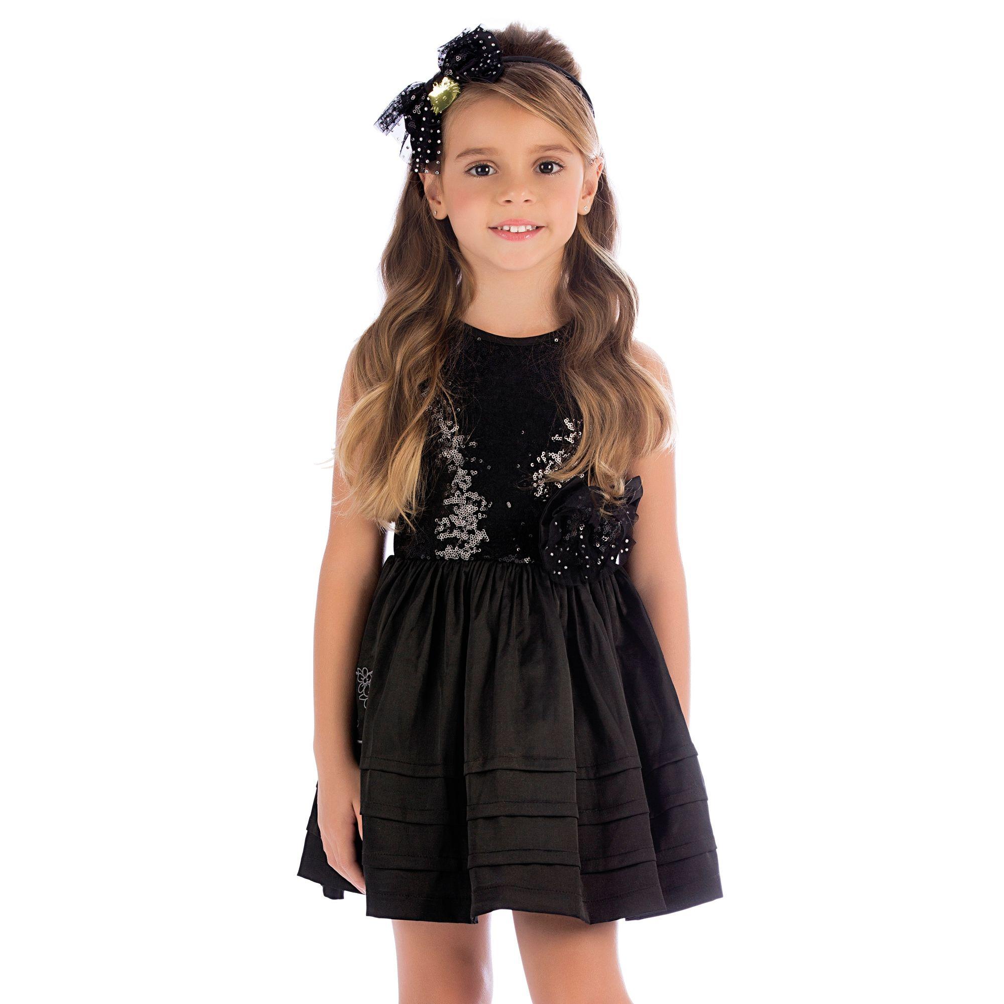 c2ab252df82c Vestido Infantil Festa Preto - Vestidos Infantis é na loja EcaMeleca Kids -  EcaMeleca