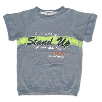 Camiseta Infantil Número 7 Creme Flamê - EcaMeleca 2cfe0b882ae