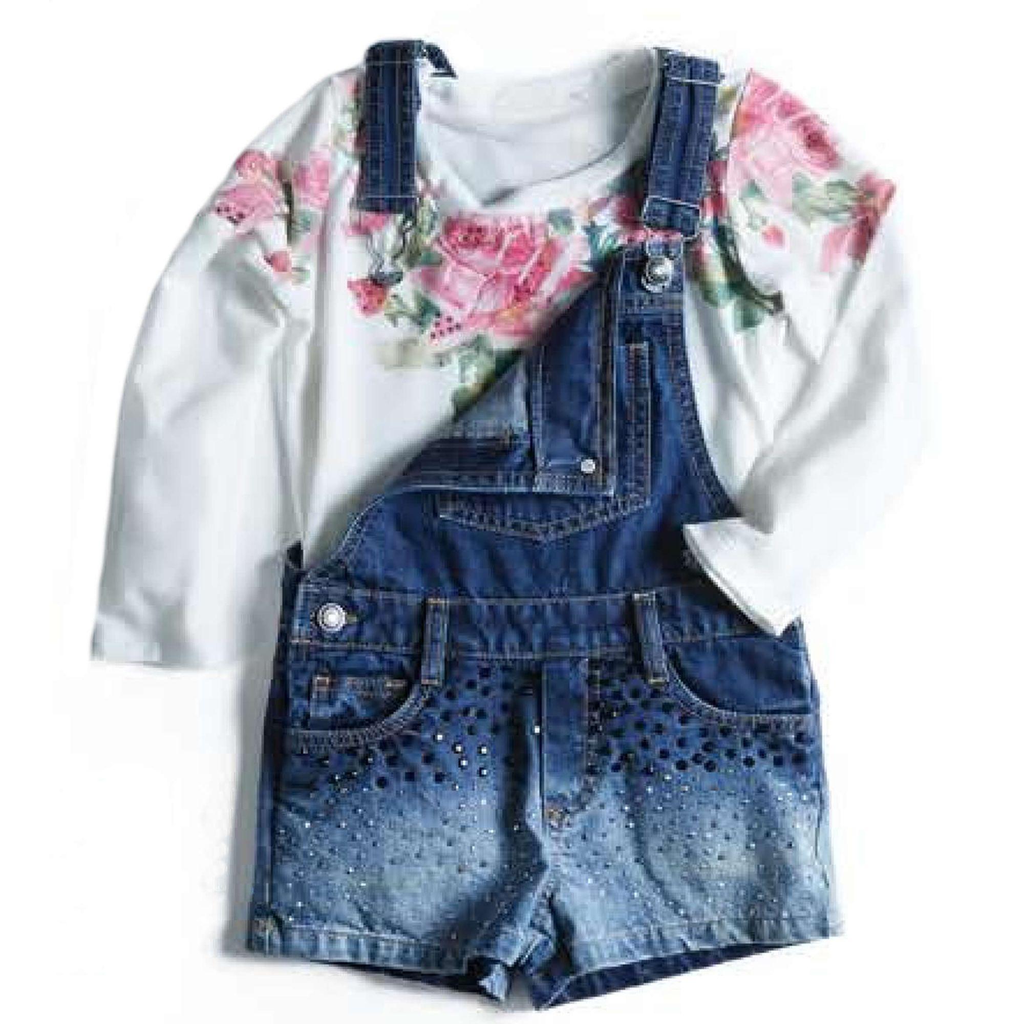 jardineira-menina-jeans-com-aplique-e-camiseta-flores-infantil