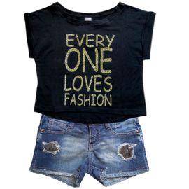 conjunto-infantil-menina-camiseta-preta-e-short-jeans-rasgado
