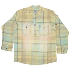 camisa-bata-menino-xadrez-amarela-joy