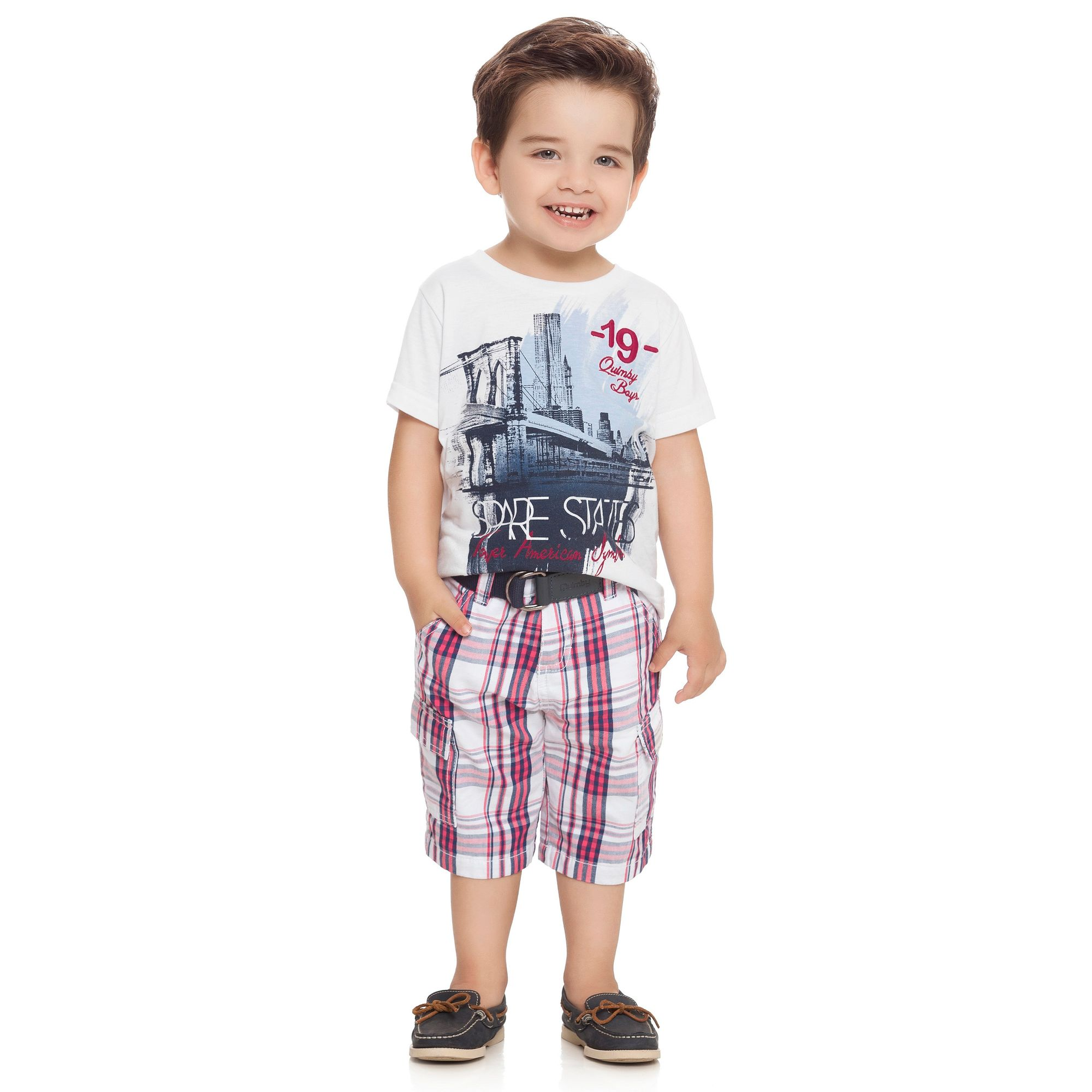 conjunto-menino-camiseta-e-bermuda-sarja-xadrez-quimby