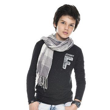 camiseta-infantil-manga-longa-preta-johnny-fox
