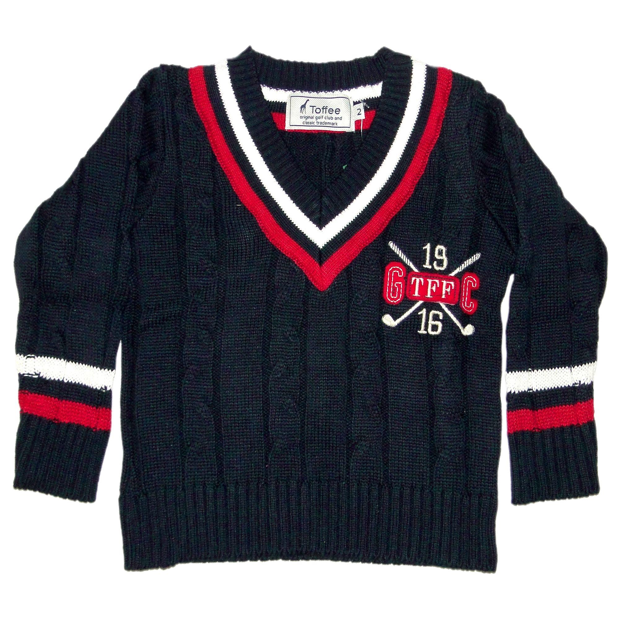 Suéter Infantil em Tricô Azul Marinho com Tranças e Listra na Gola Toffee -  Roupas para Meninos é na EcaMeleca Kids - EcaMeleca cc3d7895b1e