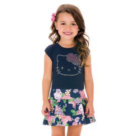 vestido-menina-azul-marinho-saia-babados-florida-hello-kitty