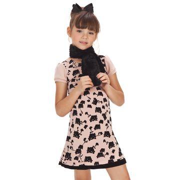 vestido-infantil-rose-com-estampa-aveludada-e-cachecol-pelo-gabriela-aquarela