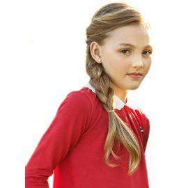 bata-menina-vermelha-estilo-polo-gola-bordada-missfloor