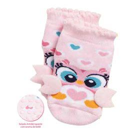 meia-baby-coruja-rosa-com-aplique-aroma-e-sola-antiderrapante-puket