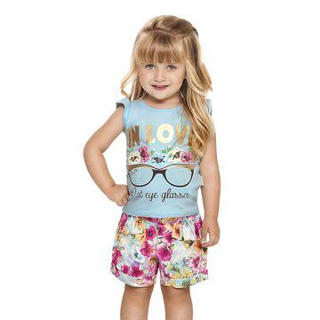 conjunto-menina-blusa-azul-claro-e-short-florido-quimby