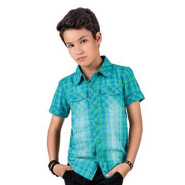 camisa-menino-tricoline-xadrez-azul-e-verde-johnny-fox