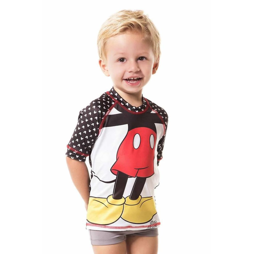 Camiseta Menino Acqua Mickey Disney ML com Proteção Solar U.V. Line.  Camiseta para praia e piscina ... 87f310cbce0