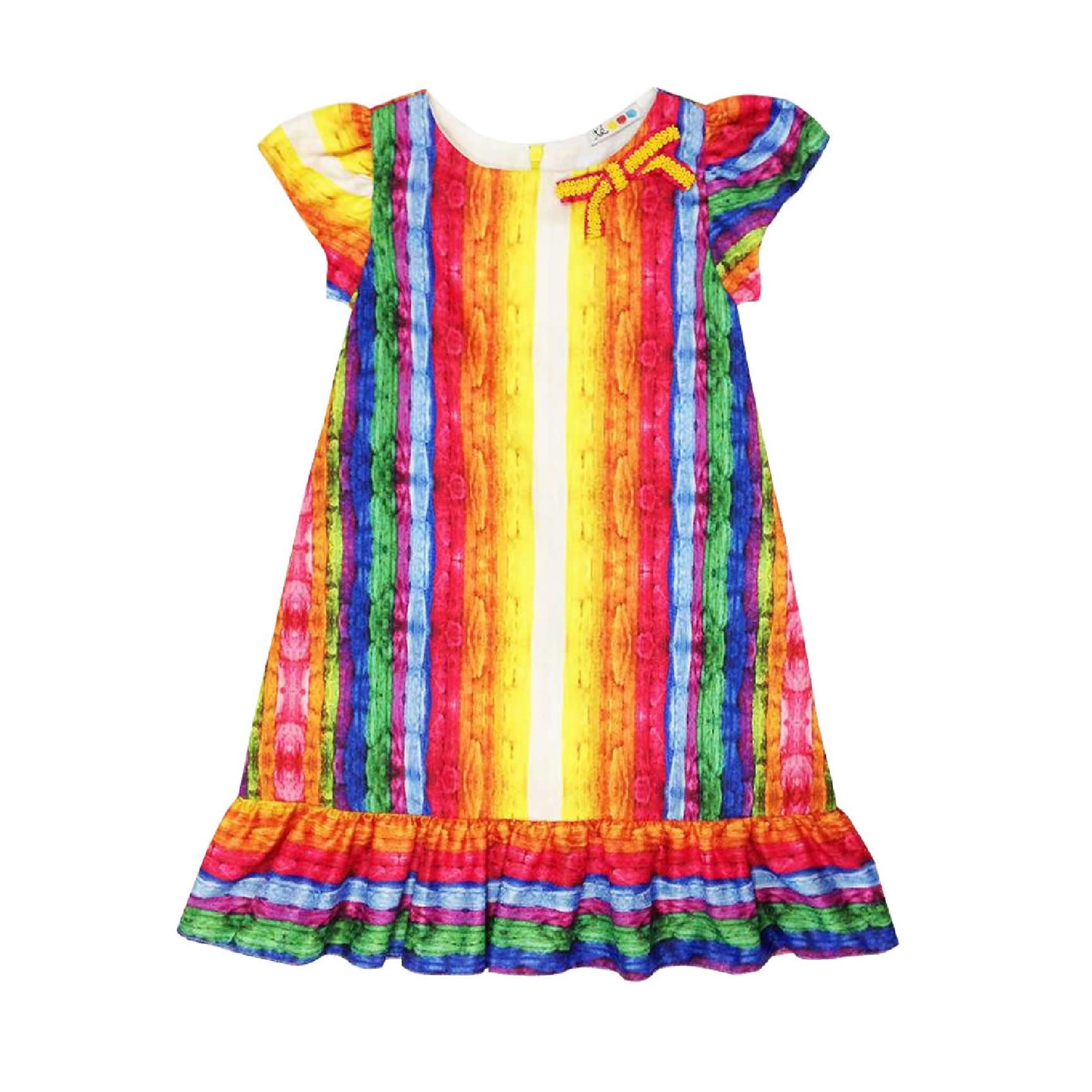 vestido-infantil-fitas-coloridas-trapezio-te-roupa-de-crianca