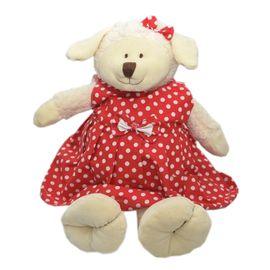 urso-pelucia-ovelhinha-carola-vestido-vermelho-ziptoys