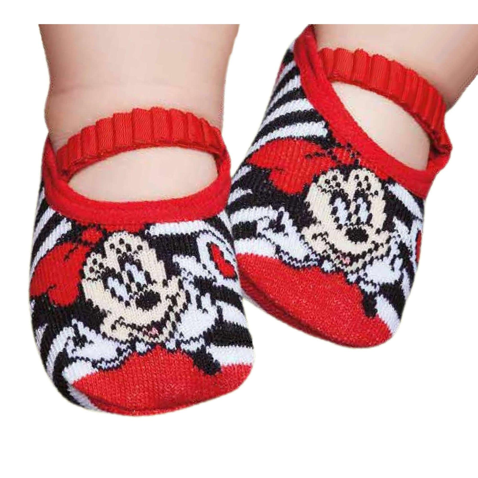 f910fa59ec1177 Meia Baby Sapatilha Disney® Minnie Puket - EcaMeleca