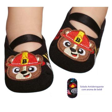 meia-sapatilha-bebe-com-aplique-urso-bombeiro-puket