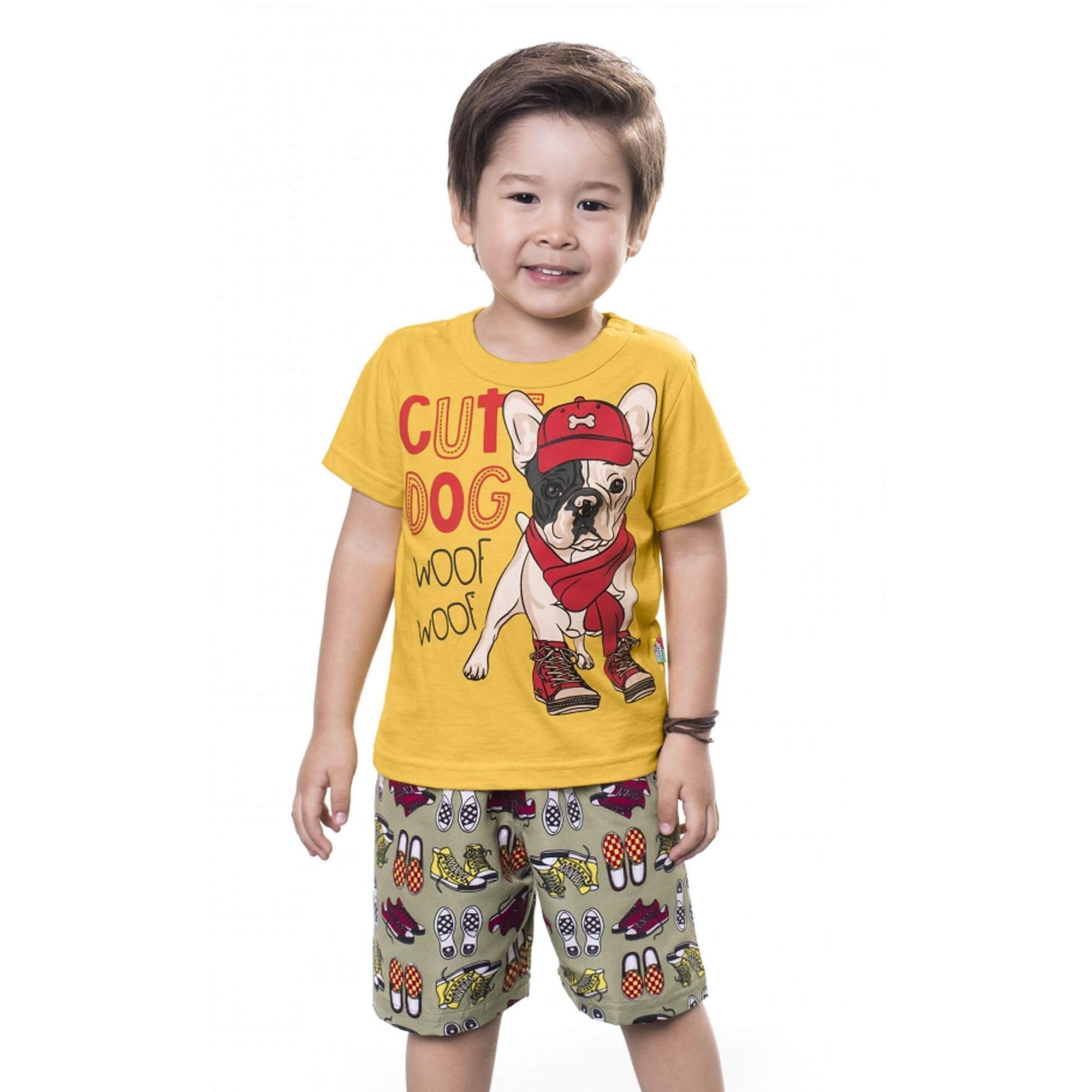conjunto-menino-camiseta-amarela-bulldog-e-bermuda-microfibra-bee-loop