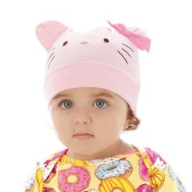 touca-bebe-hello-kitty-suedine-rosa