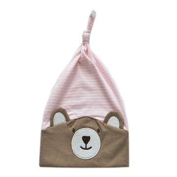 gorro-bebes-urso-nino-listrado-rosa-ziptoys