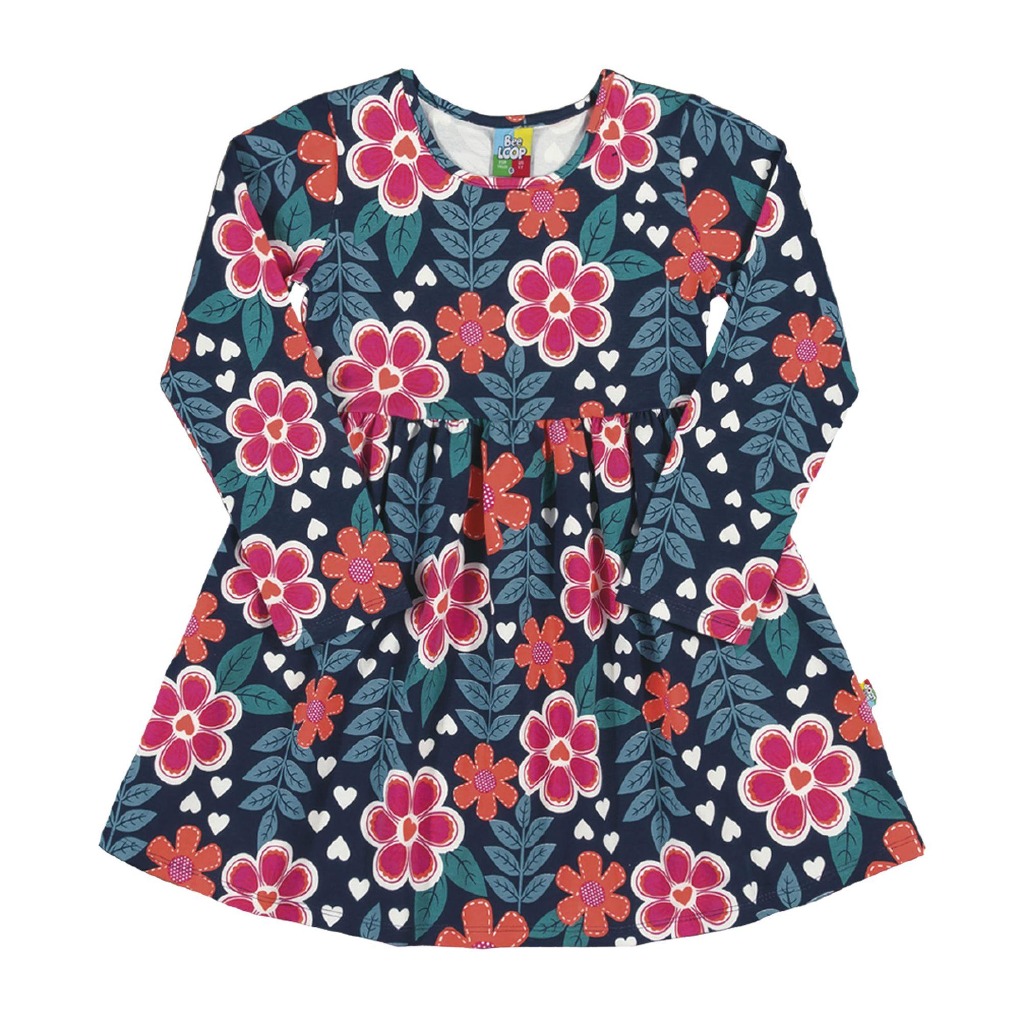vestido-infantil-manga-longa-marinho-com-flores-cotton