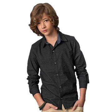 camisa-social-menino-manga-longa-tricoline-preta