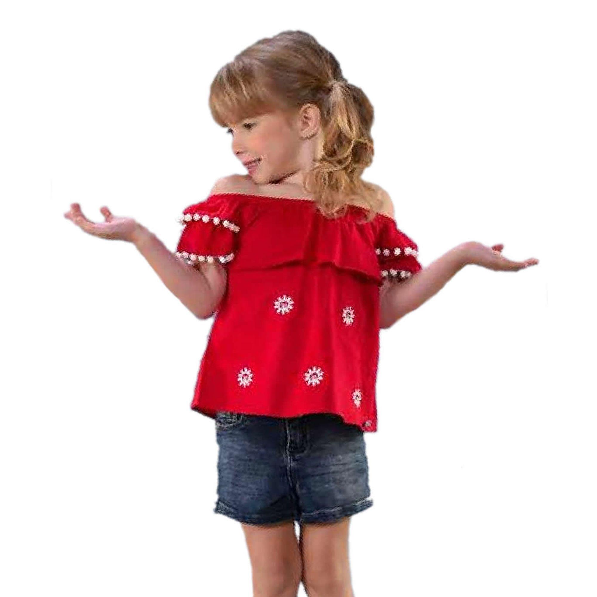 conjunto-menina-batinha-vermelha-e-short-jeans-cinto