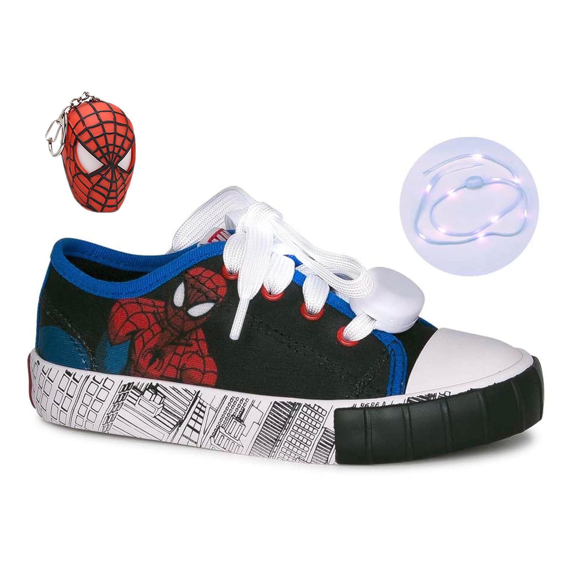 Tênis Infantil Homem-Aranha Marvel com Cadarço Luminoso - Diversão -  EcaMeleca d68ba8d3204c4