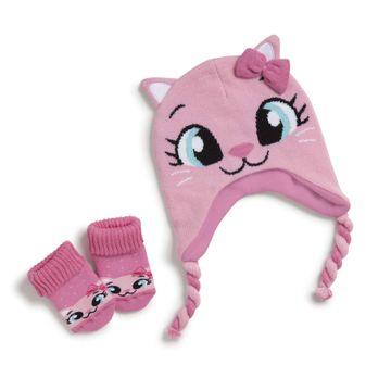 kit-touca-meia-bebe-gatinha-rosa-puket